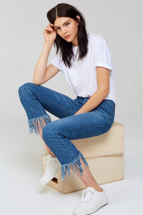 calça jeans com barra de franja12
