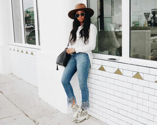 calça jeans com barra de franja8
