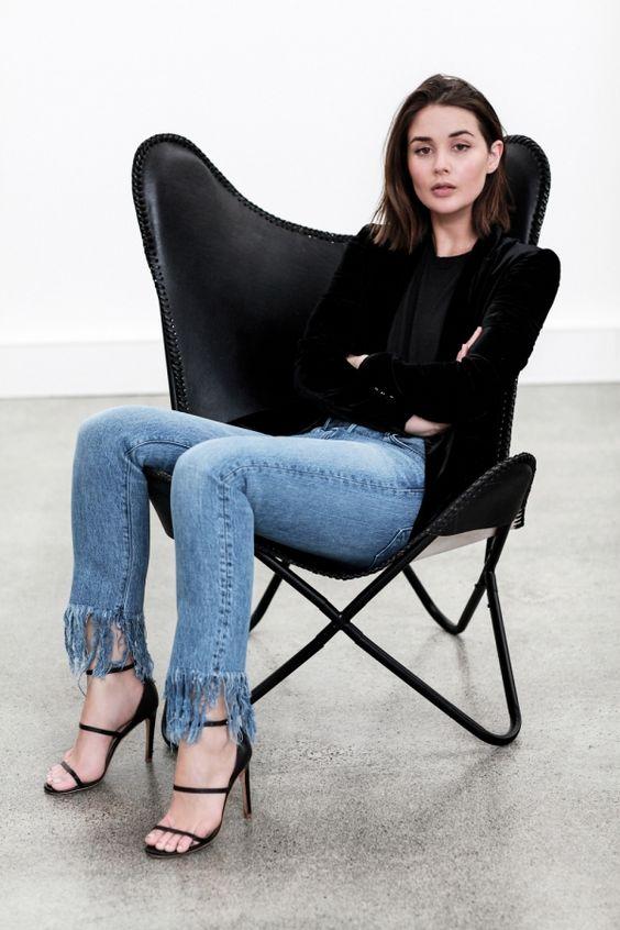 calça jeans com barra de franja9